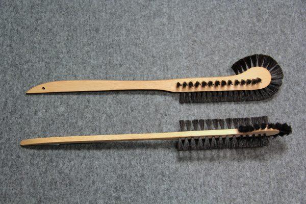 Radiatorbørste gl.model 383 m/ børster på 3 sider sort hestehalehår 50 cm