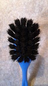 Opvaskebørste 2292 Kopbørste Blå Plastik m/sort hestehalehår 22 cm. nr. 229