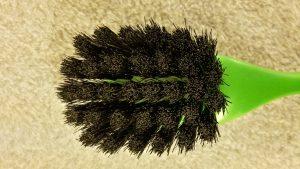 Opvaskebørste 2295 Kopbørste Grøn Plastik m/sort hestehalehår 22 cm. nr. 229