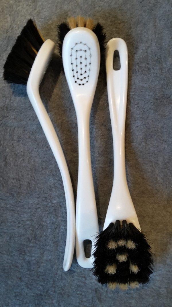 Opvaskebørste 2281 Kopbørste Hvid Plastik m/ Ansigt hestehalehår 22 cm