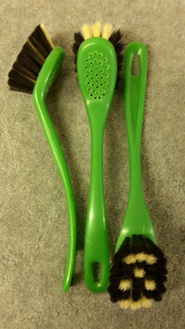 Opvaskebørste 2285 Kopbørste Grøn Plastik m/ Ansigt hestehalehår 22 cm